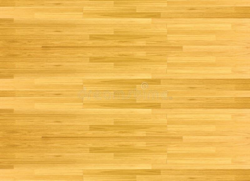 硬木槭树从上面被观看的篮球场地板 库存照片