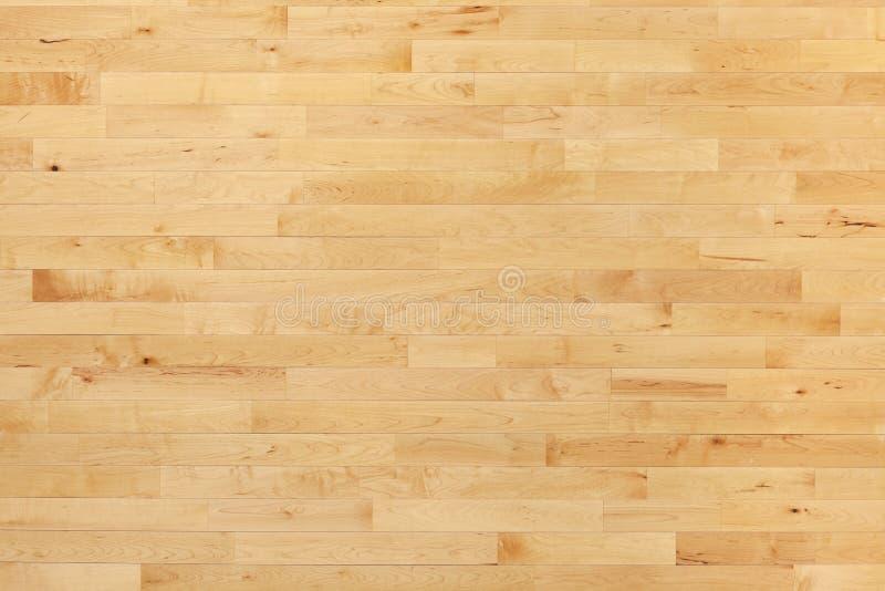 硬木从上面被观看的篮球场地板 库存照片