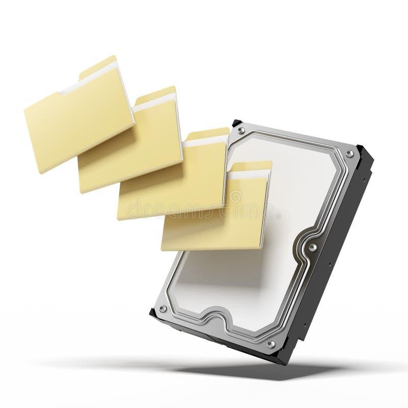 硬盘和文件夹 库存例证