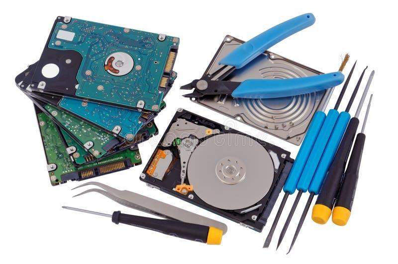 硬盘概念专业修理  库存图片