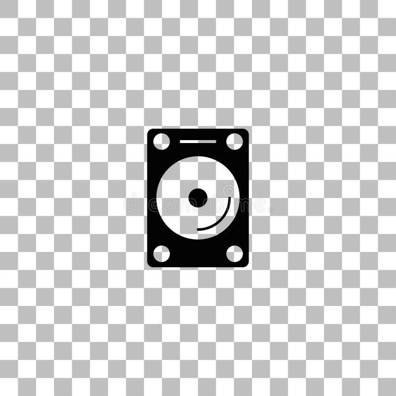 硬盘象平展 向量例证