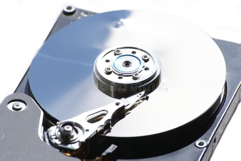 硬盘驱动器题头和光盘 免版税库存照片