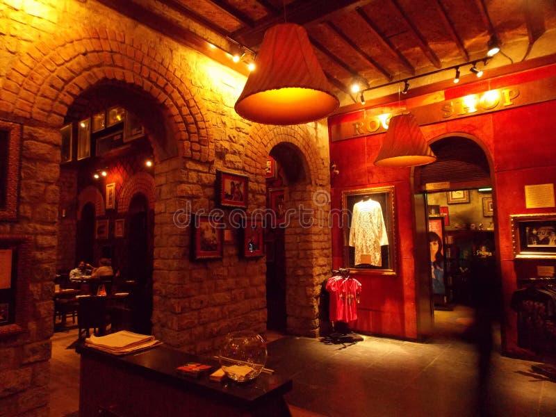 硬石餐厅,班格洛,印度 免版税库存照片