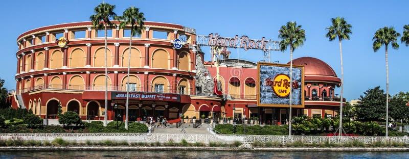 硬石餐厅`普遍城市位于奥兰多,佛罗里达 免版税库存照片