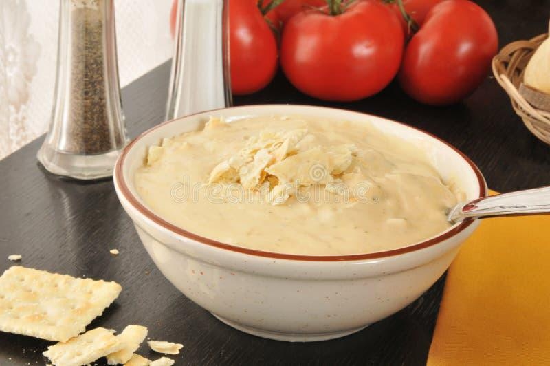 硬花甘蓝、土豆和乳酪杂烩 库存照片