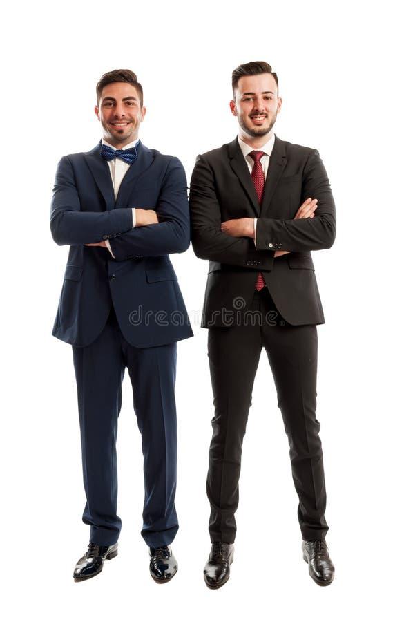 确信和成功商人站立 免版税图库摄影