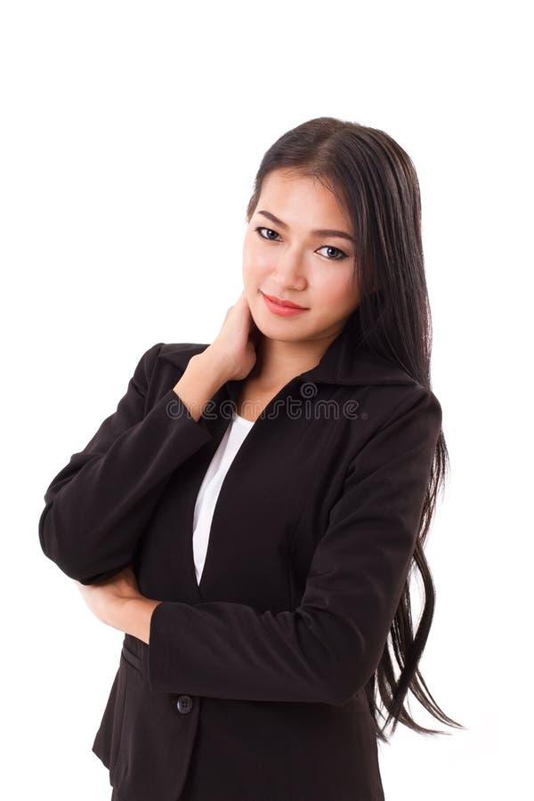 确信妇女商业主管认为 图库摄影