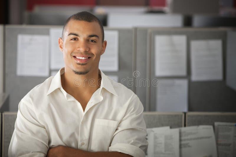 确信的办公室工作者 免版税图库摄影