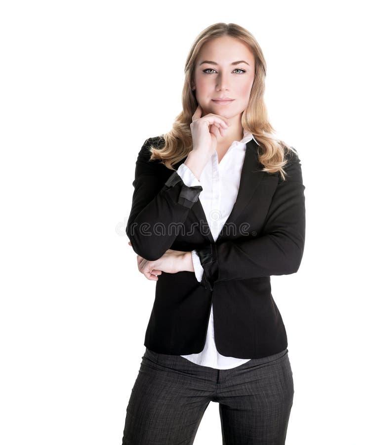 确信的女商人 免版税库存图片