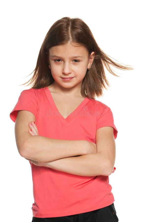 确信的女孩 免版税图库摄影