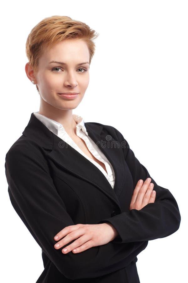 确信的女实业家纵向  免版税库存图片