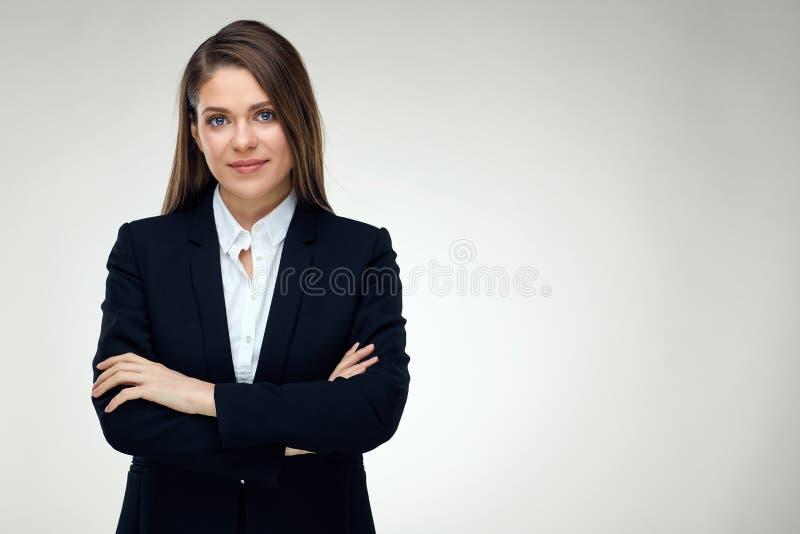 确信的女实业家被隔绝的画象  免版税库存照片