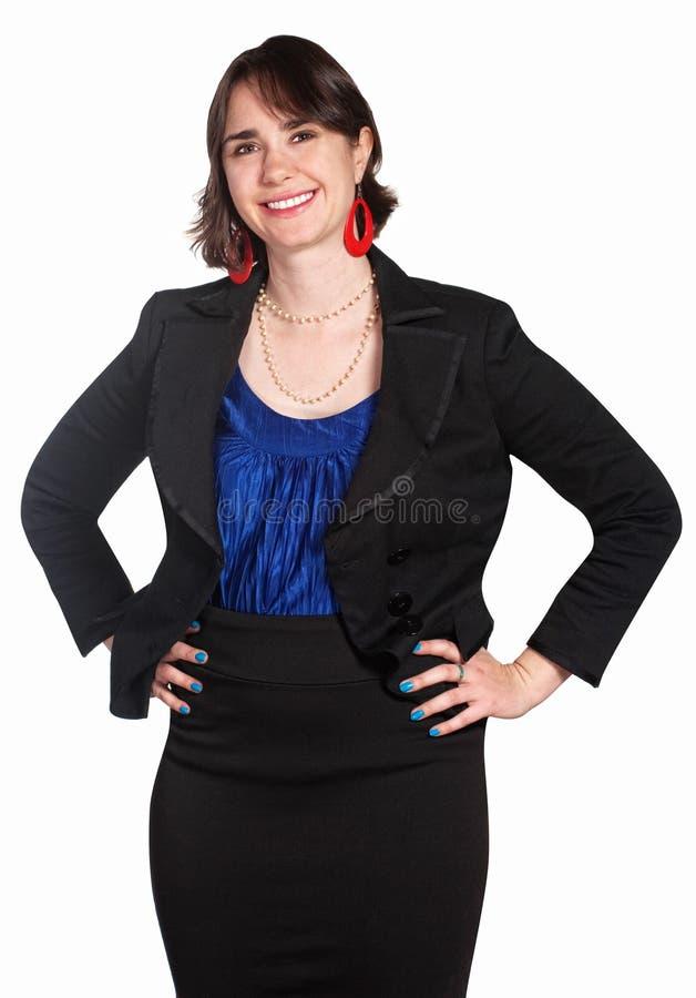 确信的女性办公室工作者 免版税库存照片