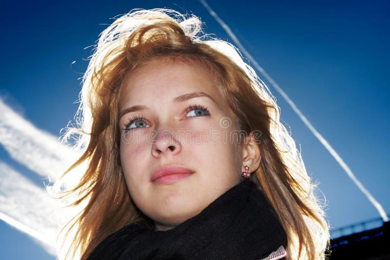 确信的妇女年轻人 免版税库存照片