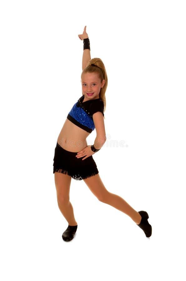 确信的舞蹈演员女孩爵士乐第一 免版税图库摄影