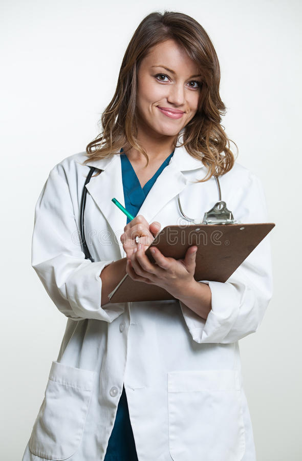 确信的西班牙医疗专业人员 免版税库存照片