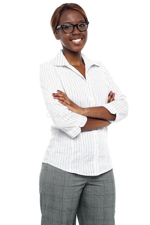 确信的非洲女性执行委员 免版税库存照片