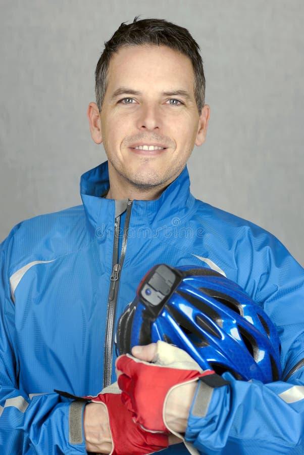 确信的骑自行车者 图库摄影