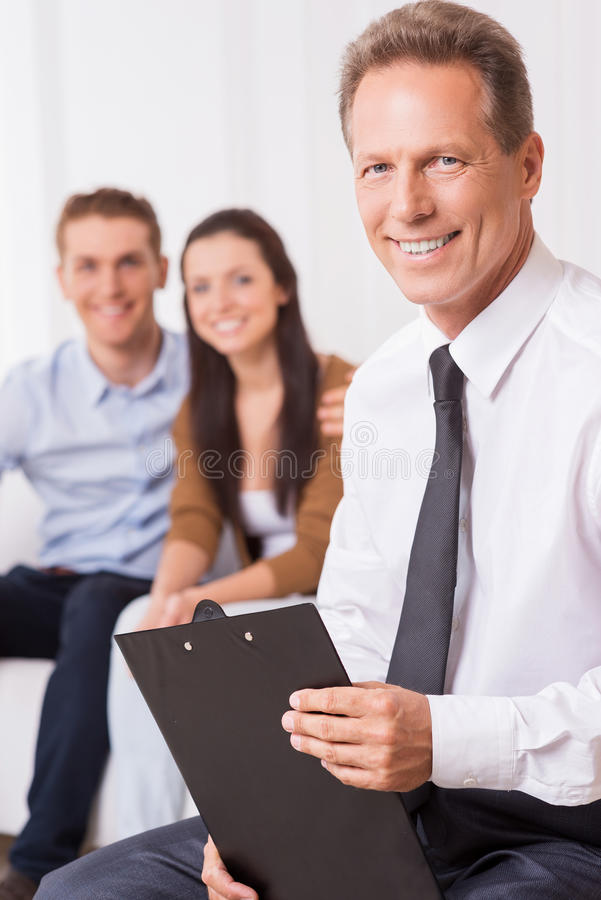 确信的财务专家 免版税库存图片