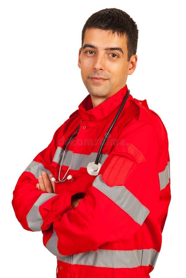 确信的医务人员人 免版税库存照片
