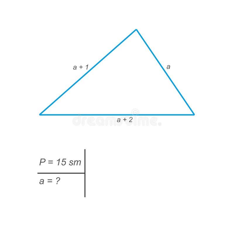 确定三角的每边的长度 皇族释放例证