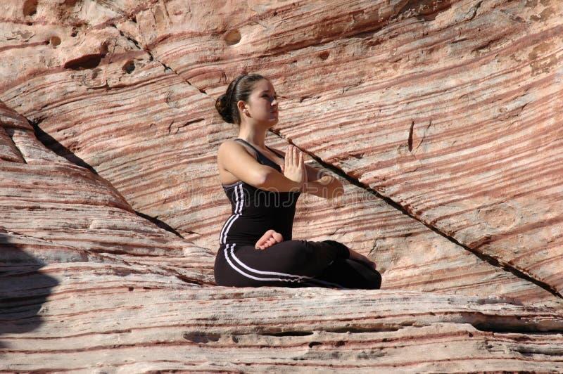 确定瑜伽 免版税库存照片
