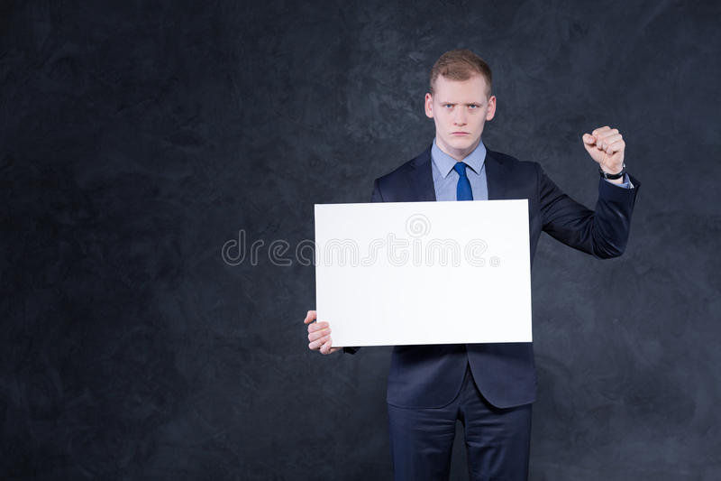 确定的年轻人 免版税库存图片