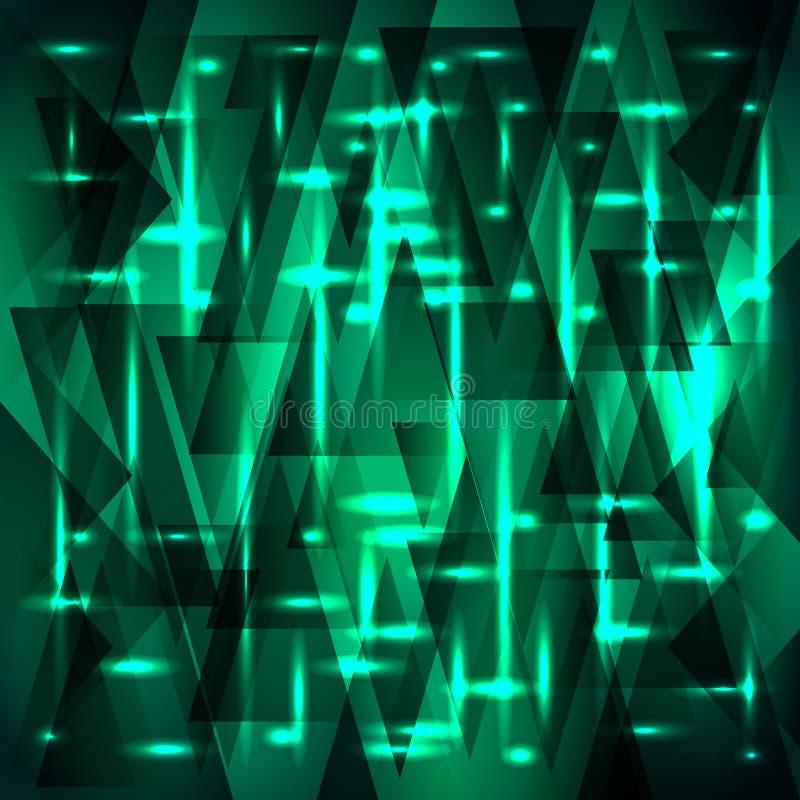 碎片和三角的传染媒介富有的水色颜色样式与星 库存例证