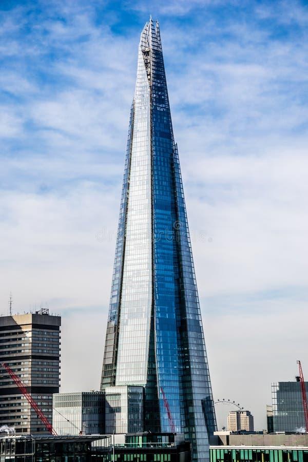 碎片,高楼在伦敦 图库摄影