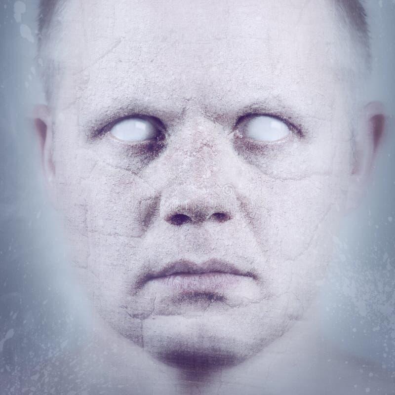 破碎的荧光的面孔 免版税库存图片