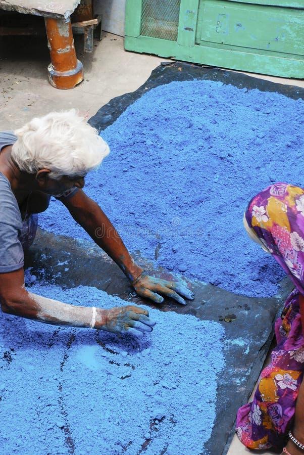 击碎色的矿物在印度 免版税库存图片