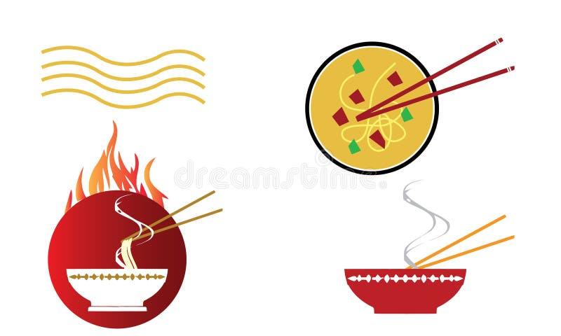 碗与筷子的热的东方汤面 库存图片