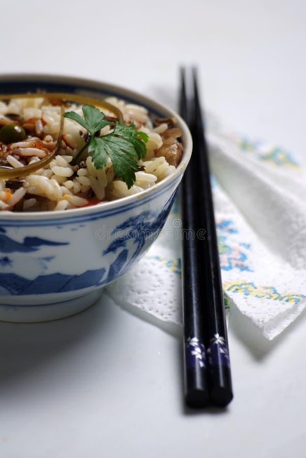 碗中国人米 免版税图库摄影