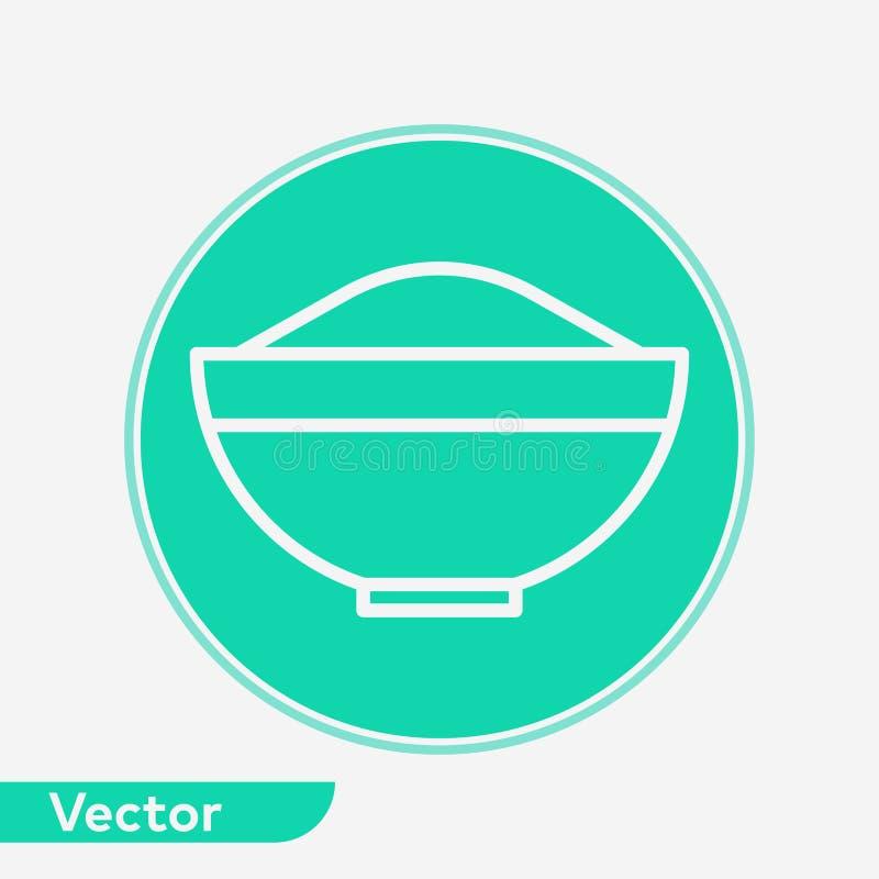 碗传染媒介象标志标志 向量例证