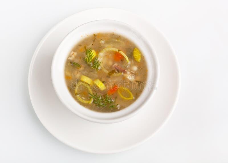 碗健康蔬菜汤 免版税库存图片