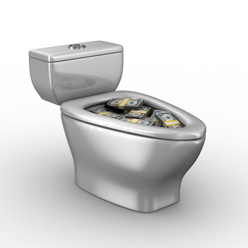 碗充分的货币洗手间 库存例证