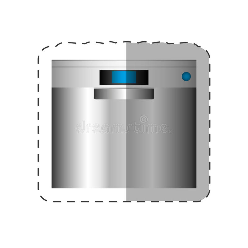 洗碗机装置家插队 向量例证