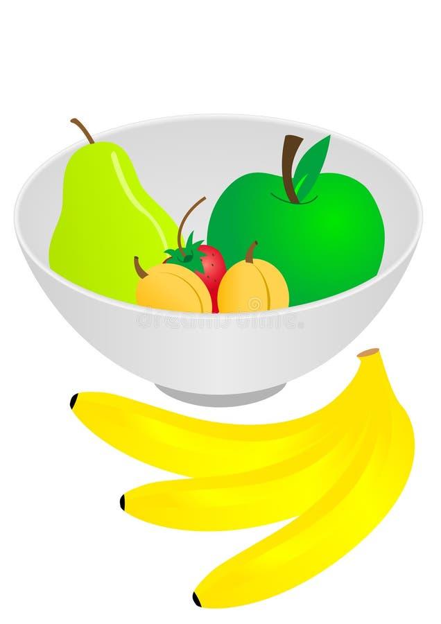 碗果子 向量例证
