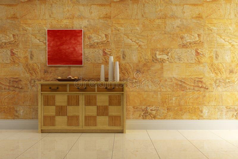 碗柜休息室空间 向量例证