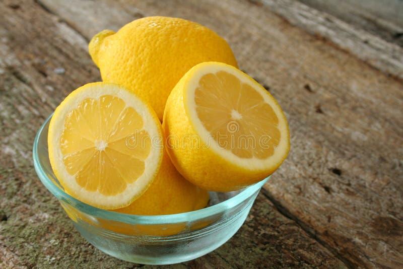 碗柠檬 库存照片