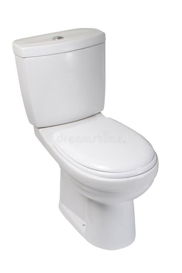 碗查出的洗手间白色 免版税库存照片