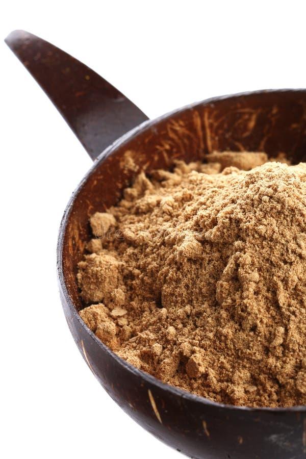碗椰子姜陆运查出的香料 库存照片