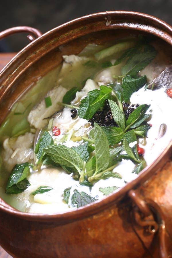 碗汤中国人瓶子 免版税库存图片