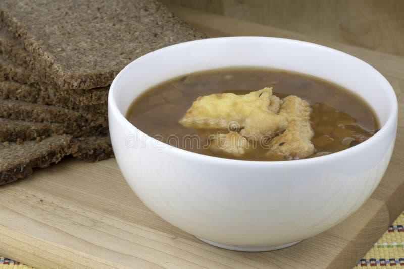 碗汤 库存图片
