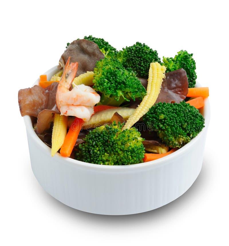 碗油煎的混合蔬菜 库存图片