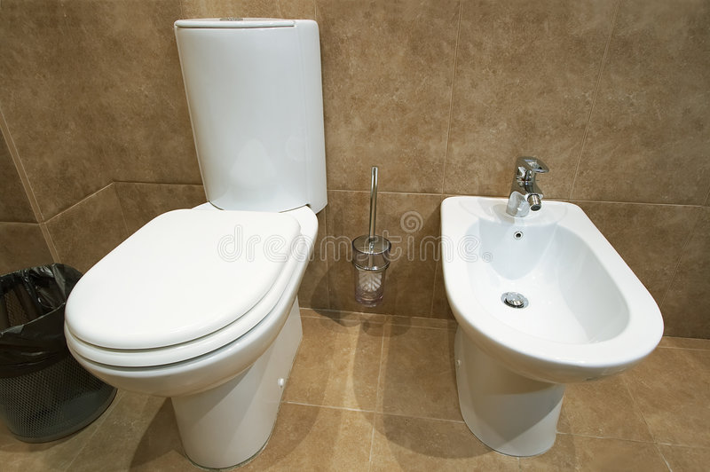 碗洗手间 库存图片