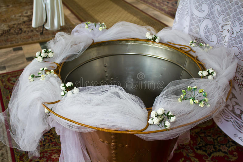 碗洗礼仪式 免版税库存图片