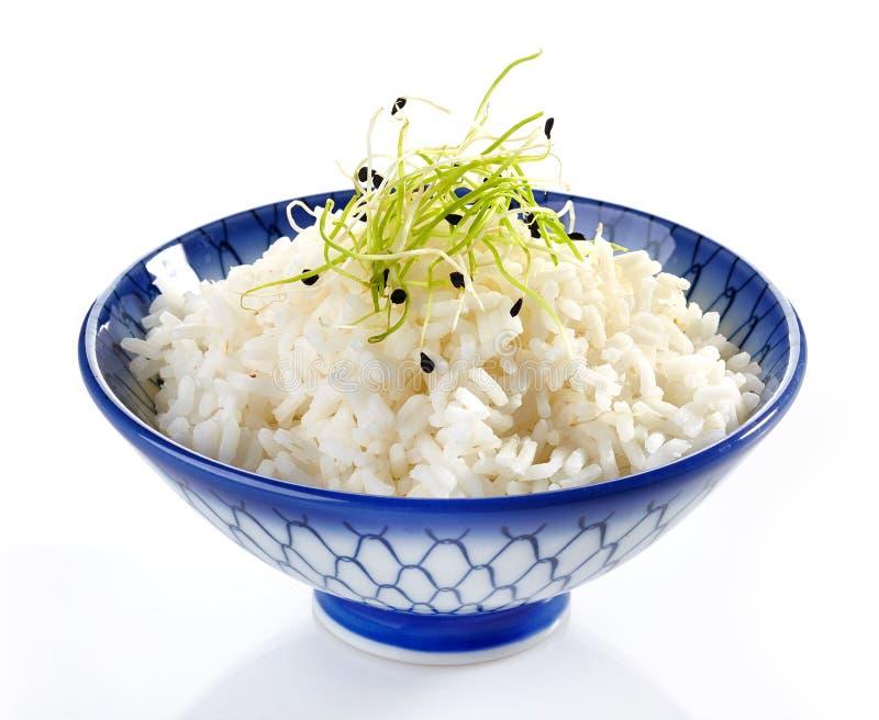 碗煮沸的米 免版税图库摄影