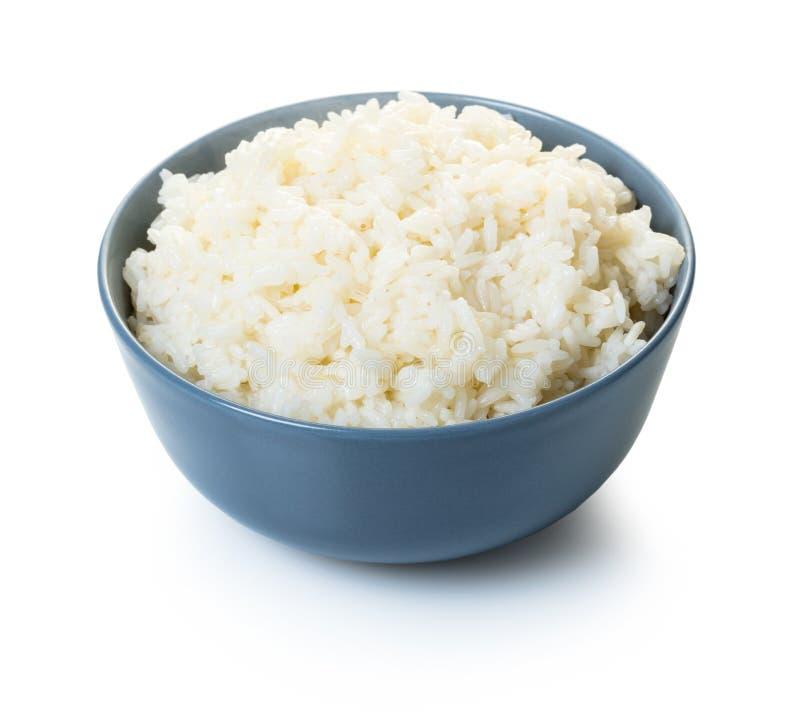 碗煮熟的米 免版税库存照片