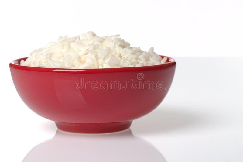 碗煮熟的红色米 免版税图库摄影